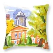 Autumn At The Courthouse Throw Pillow