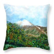 Autumn At The Foot Of Mount Elbrus Throw Pillow