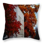 Autumn At The Grants Pass Courthouse Throw Pillow