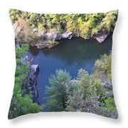 Autumn At The Lake Of The Devil Throw Pillow
