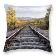 Autumn At The Railroad Throw Pillow