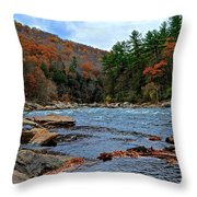 Autumn At The Youghiogheny Throw Pillow