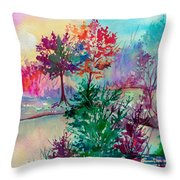 Autumn Aura Throw Pillow