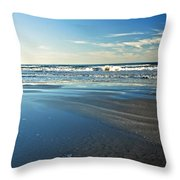 Relaxing Autumn Beach  Throw Pillow