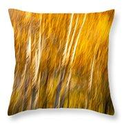 Autumn Birches Throw Pillow