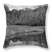 Autumn Black And White Throw Pillow