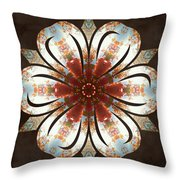 Autumn Blooming Throw Pillow