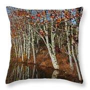 Autumn Blue Throw Pillow