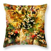 Autumn Bounty - Abstract Expressionism Throw Pillow