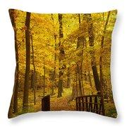 Autumn Bridge IIi Throw Pillow