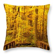 Autumn Bridge V Throw Pillow