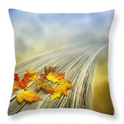 Autumn Bridge Throw Pillow by Veikko Suikkanen