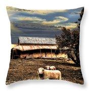 Autumn Brown Throw Pillow