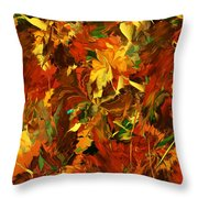 Autumn Burst Throw Pillow