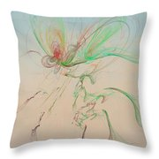 Autumn Butterfly Abstract Throw Pillow