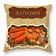 Autumn Button Throw Pillow by Mike Savad