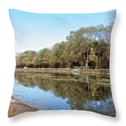 Autumn By The Erie Canal Throw Pillow