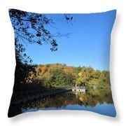 Autumn By The Lake 1 Throw Pillow