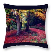 Autumn Carpet In The Enchanted Wood Throw Pillow