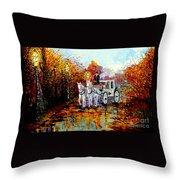 Autumn Carriage Throw Pillow