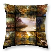 Autumn Collage Throw Pillow