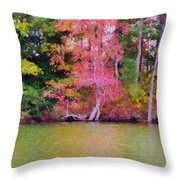 Autumn Color In Norfolk Botanical Garden 1 Throw Pillow