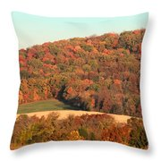 Autumn Color On Rolling Hills Throw Pillow