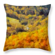 Autumn Colors In Shenandoah Throw Pillow