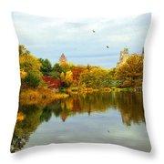 Autumn Colors - Nyc Throw Pillow