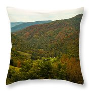 Autumn Comes To Appalachia  Throw Pillow