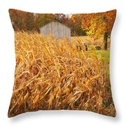 Autumn Corn Throw Pillow