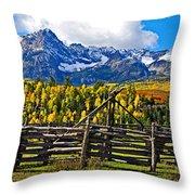 Autumn Corral Throw Pillow