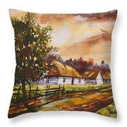 Autumn Cottages Throw Pillow