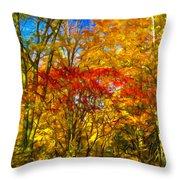 Autumn Cul-de-sac - Paint Throw Pillow