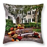 Autumn Display At The Sagamore Resort Throw Pillow