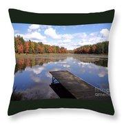 Autumn Dock Throw Pillow