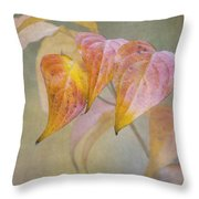 Autumn Dogwood Throw Pillow