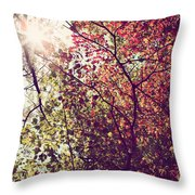 Autumn Dresses In Flame And Gold Throw Pillow