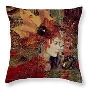 Autumn Dryad Collage Throw Pillow