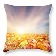 Autumn Fall Landscape Throw Pillow