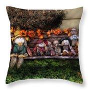 Autumn - Family Reunion Throw Pillow