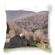 Autumn Farm In Catskills Throw Pillow
