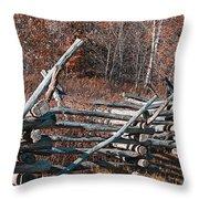Autumn Fence Throw Pillow
