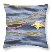 Autumn Floats Away Throw Pillow