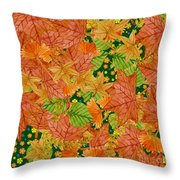 Autumn Floor Throw Pillow