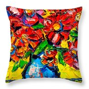 Autumn Flowers 7 Throw Pillow