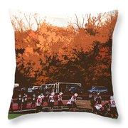 Autumn Football With Cutout Effect Throw Pillow