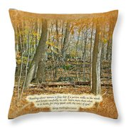 Autumn Forest - George Washington Carver Quote Throw Pillow