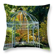 Autumn Gazebo Throw Pillow