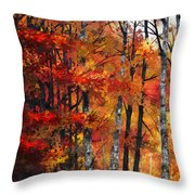 Autumn Glory I Throw Pillow